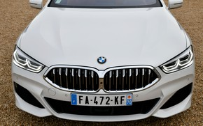 Picture white, coupe, BMW, before, 2018, 8-Series, Eight, G15, 840d xDrive M Sport