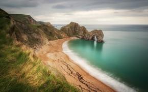 Picture sea, beach, landscape, nature, rocks, coast, beauty, panorama, Bay