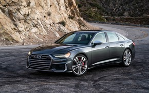 Picture Audi, sedan, in the mountains, Audi A6, 2020, Audi S6, US-version