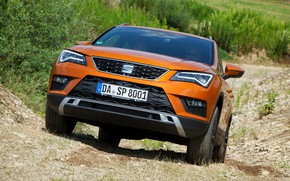 Picture vegetation, the rise, SUV, Seat, 2017, 4Drive, Ateca