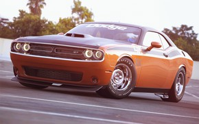 Picture Auto, Machine, Dodge, Challenger, Lights, Dodge Challenger, Muscle car, Rendering, The front, Transport & Vehicles, …