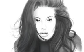 Picture girl, figure, portrait, pencil
