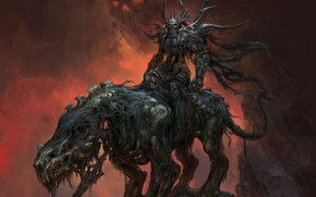 Picture Fantasy, Art, Death, Rider, Russell Dongjun Lu, by Russell Dongjun Lu, Death Rider