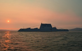 Picture sunset, destroyer, Michael Monsoor