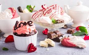 Picture decoration, cake, cream, dessert, meringue, Kosa, Iryna Melnyk