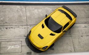 Picture Mercedes-Benz, Auto, Yellow, Machine, Mercedes, SLS AMG, AMG, SLS, Rendering, Black Series, Mercedes-Benz SLS, Mercedes-Benz …