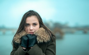 Picture cold, girl, coat, Jean-Charles Mudet