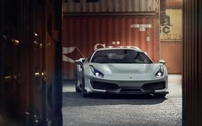 Picture machine, Ferrari, sports car, containers, Novitec, 488, Pista