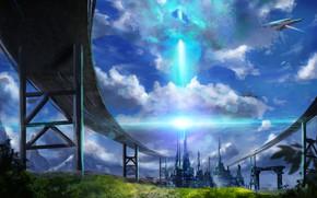 Picture the sky, nature, the city, fiction, technique, GN-09