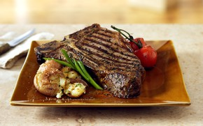 Picture Meat, Tomato, Food, Steak, Potato, Roasted meat, Onion