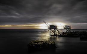 Picture sea, network, shore