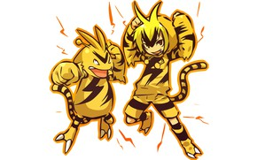 Picture boy, category, costume, guy, fists, boy, cosplay, electric, charge, pokemon, pokemon, humanitaria, Electabuzz, Electabuzz