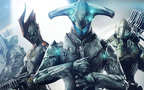 Picture weapons, the game, art, creatures, characters, aliens, Warframe