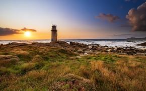 Picture lighthouse, coast, Spain, Galicia