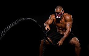 Picture pose, figure, tattoo, ropes, fitness, training, workout, workout, fitness, Mask, Training, abs, CrossFit, Crossfit, Crossfit