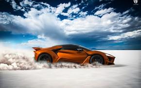 Picture Auto, Dust, Orange, Rendering, Supercar, Concept Art, Sports car, Side view, SuperSport, Transport & Vehicles, …