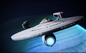 Picture ship, Space, Star Trek, Spaceship, Fan Art, Starship, by Kurumi Morishita, NCC 1700, Startrek, U.S.S. …