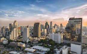 Picture the sky, clouds, landscape, the city, building, day, Thailand, Thailand, Bangkok, the urban landscape