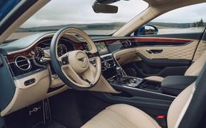 Picture Bentley, the wheel, salon, Bentley Continental, Bentley Continental Flying Spur, Bentley Continental Flying