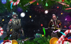 Picture Snow, Map, Knife, Candy, Operation, Machine gun, New year, Tree, Weapons, Knives, Christmas, Candy, Valve, …