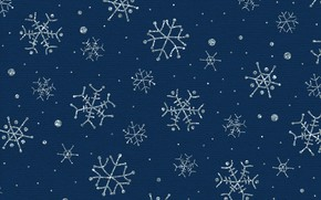 Picture winter, snow, snowflakes, texture, Christmas, New year, blue background