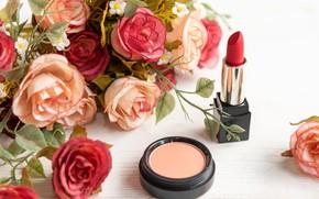 Picture flowers, bouquet, cosmetics