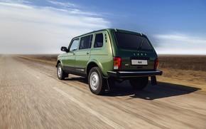 Picture road, field, SUV, Niva, the five-door, AvtoVAZ, Lada 4x4 Urban