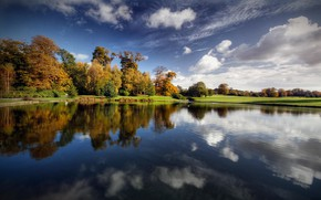 Picture autumn, forest, landscape, lake