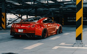 Picture Red, Auto, Machine, Tuning, Red, Car, Nissan GT-R, Transport & Vehicles, Widebody Workshop, by Widebody …