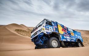 Picture Sand, Auto, Sport, Machine, Speed, Truck, Russia, Race, Russia, Speed, 300, Kamaz, Rally, KAMAZ-master, Rally, …