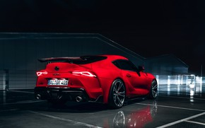 Picture night, red, coupe, Toyota, Supra, the fifth generation, AC Schnitzer, mk5, double, 2019, GR Above, …