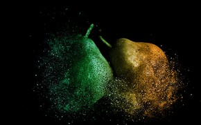 Picture BACKGROUND, BLACK, PEAR