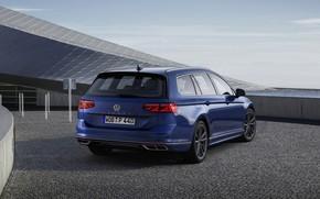 Picture blue, Volkswagen, ass, universal, Passat, R-Line, Variant, 2019