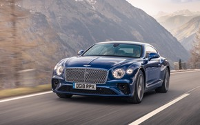 Picture Bentley, Continental, 2018, Bentley Continental GT, Sequin Blue