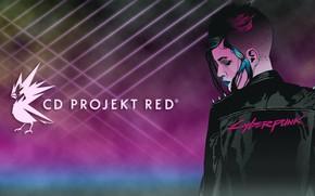 Wallpaper Girl, The game, Neon, Art, CD Projekt RED, Cyberpunk 2077, Cyberpunk, Cyberpunk, Cyberpunk 2077, 2077, ...