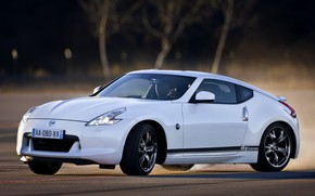Picture white, skid, Nissan, 2011, 370Z, GT Edition