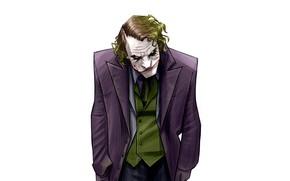 Picture Minimalism, Figure, Joker, Background, Art, Art, Joker, Heath Ledger, Heath Ledger, Minimalism, Characters, Dark Knight, …