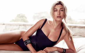 Picture look, girl, face, passion, model, figure, lips, beauty, Hailey Baldwin