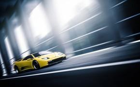 Picture Auto, Yellow, Lamborghini, Machine, Speed, Movement, Car, Car, Art, Gold, Supercar, Diablo, Vehicles, Blind Sarathonux, …