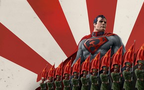Picture Soldiers, USSR, USSR, Superman, Warriors, Superhero, Art, Art, Superman, DC Comics, Character, Red Flag, Soldiers, …