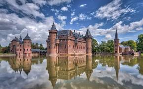 Picture lake, castle, Haar Castle
