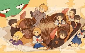 Picture people, characters, Mob Psycho 100, Kageyama Shigeo, Mob psycho 100, Arataka Reigate, Yacki