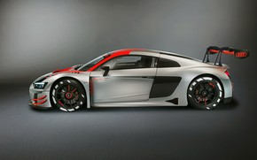 Picture racing car, Audi R8, side view, LMS, 2019