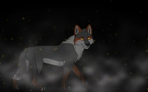 Picture background, wolf, art