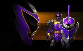 Picture dark, game, shield, evil, Power Rangers, Power Rangers: Legacy Wars, The Knight Wolf, Koragg, Mystic …