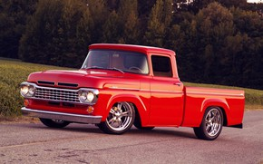 Picture Ford, Red, Car, Classic, Old, Truck