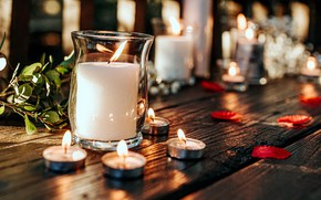 Picture background, candles, Bank