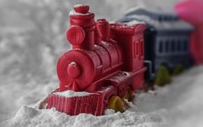 Picture macro, toy, train