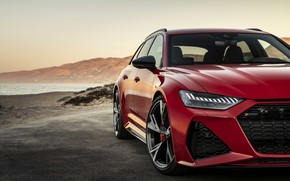 Picture red, Audi, headlight, before, grille, universal, RS 6, 2020, 2019, V8 Twin-Turbo, RS6 Avant
