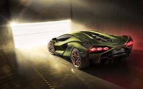 Picture Lamborghini, hybrid, supercar, machine, lights, Later
